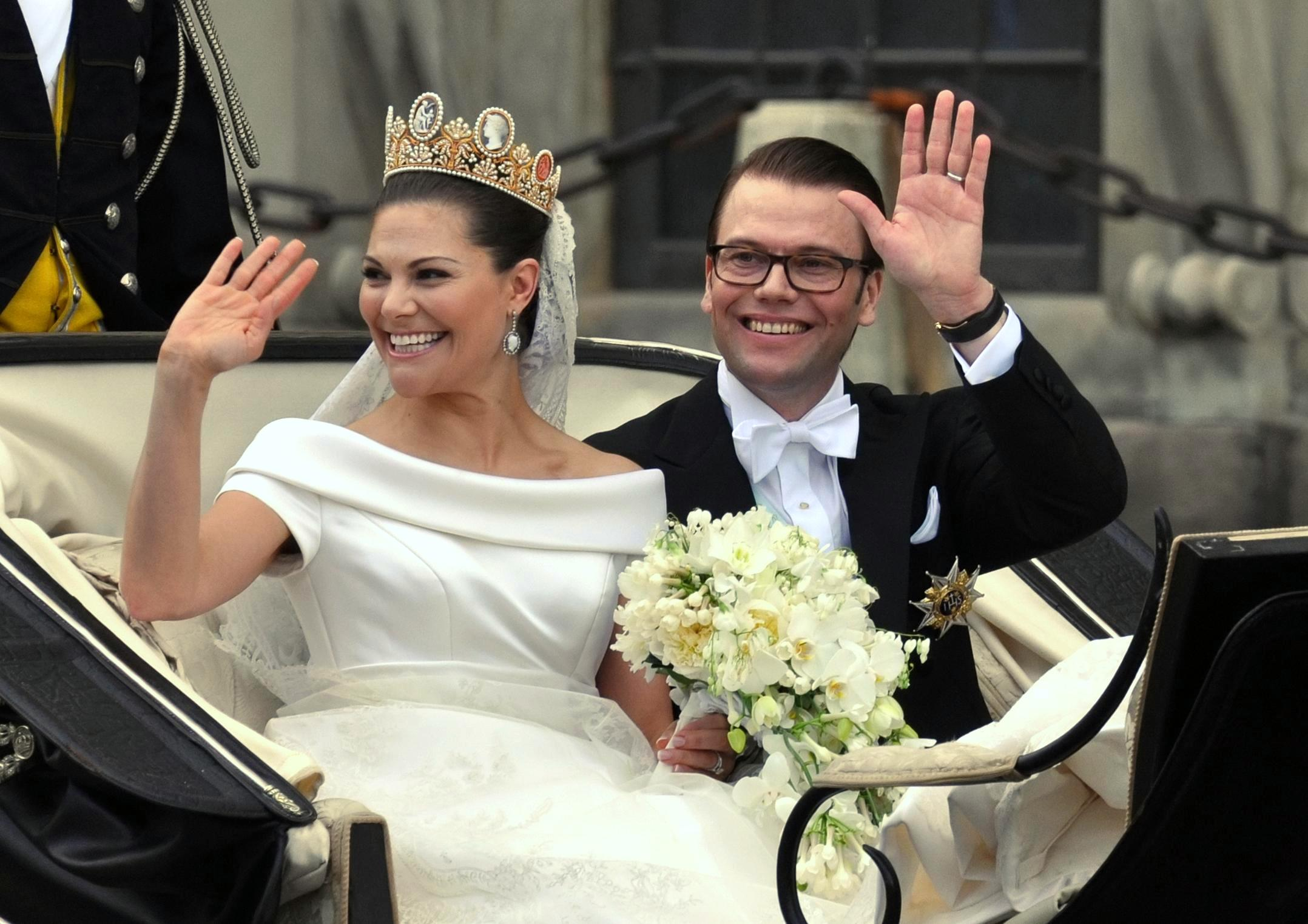 Image result for Crown Princess Victoria of Sweden and Daniel Westling (2010)