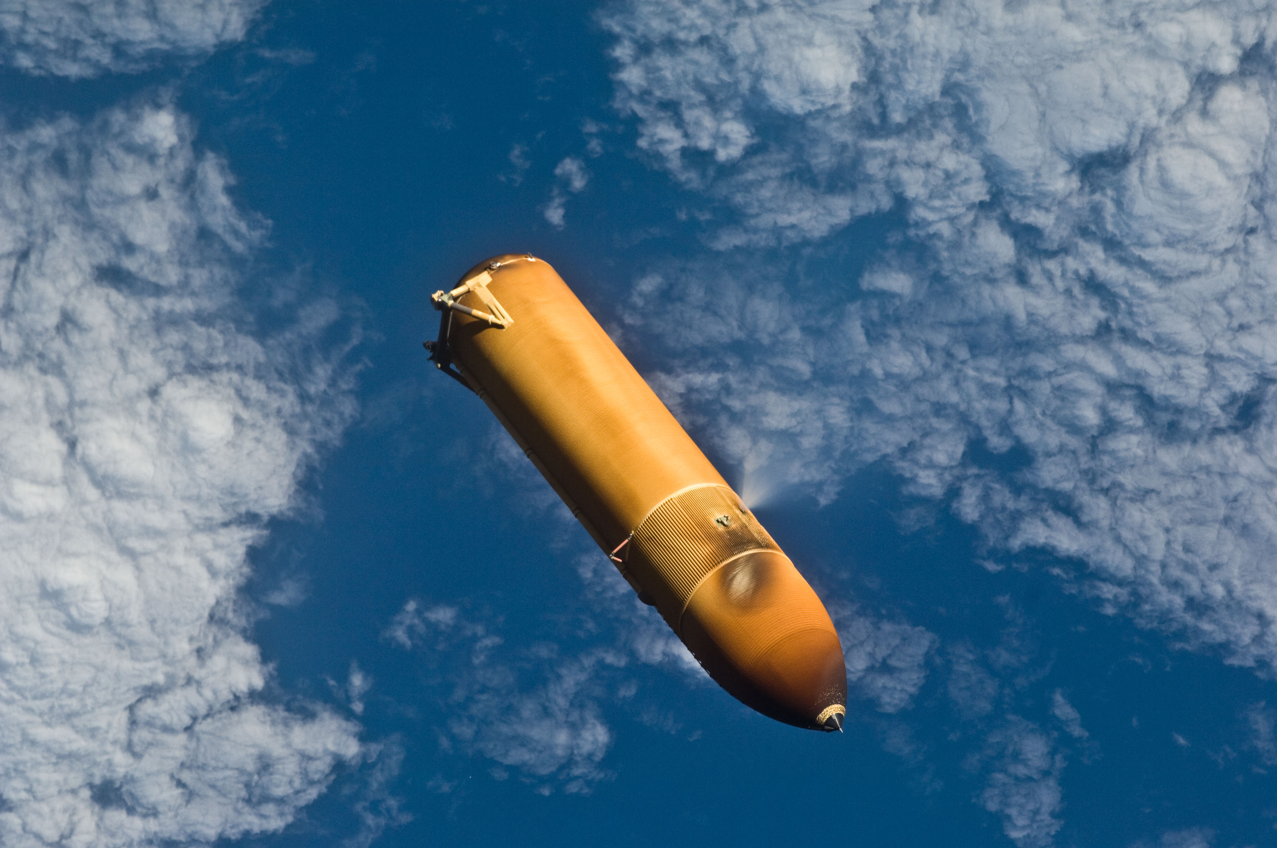 separation of booster rockets and space shuttle external tank - photo #2
