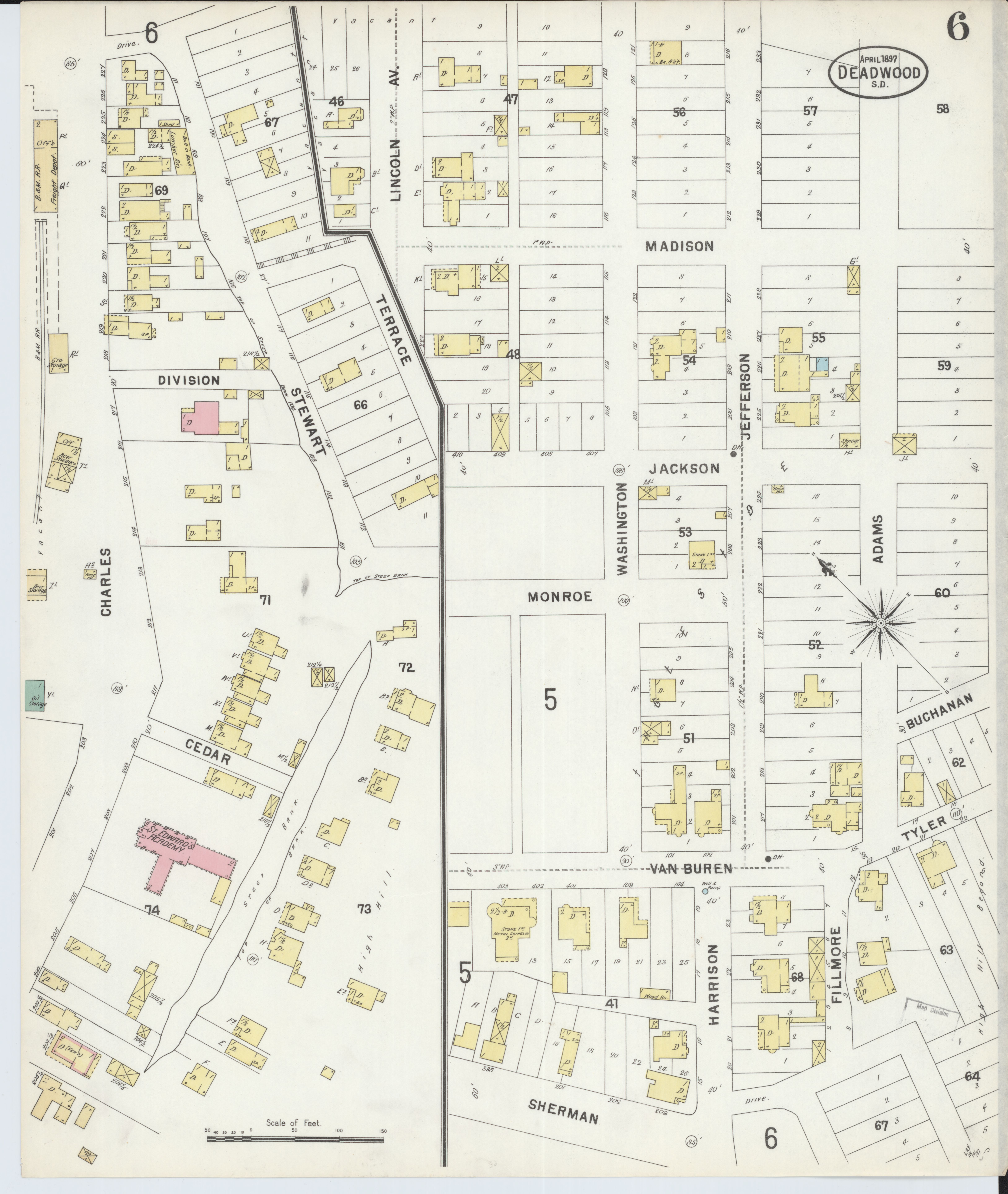File:Sanborn Fire Insurance Map from Deadwood, Lawrence County ... on