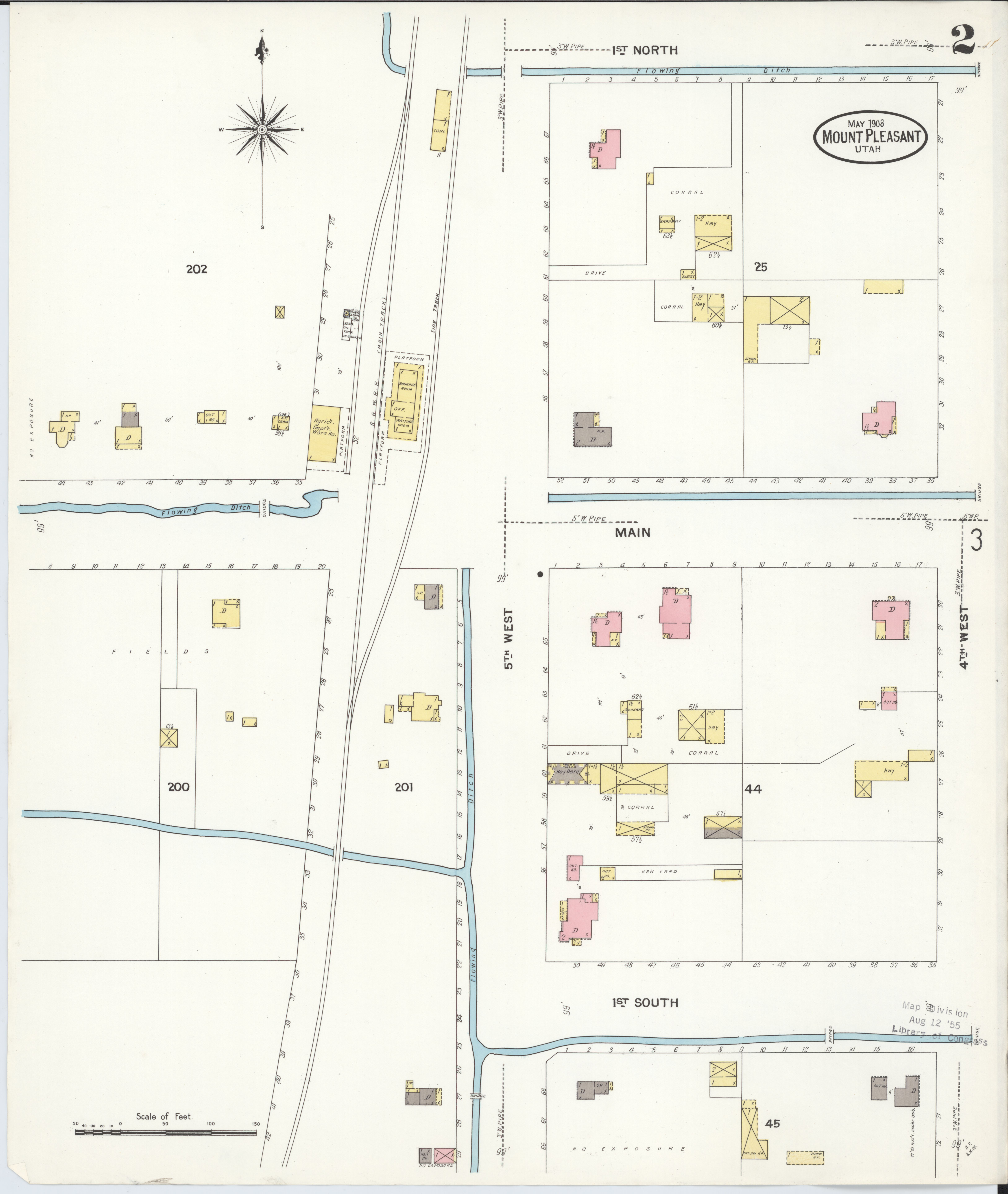 Sanpete County Utah Map.File Sanborn Fire Insurance Map From Mount Pleasant Sanpete County