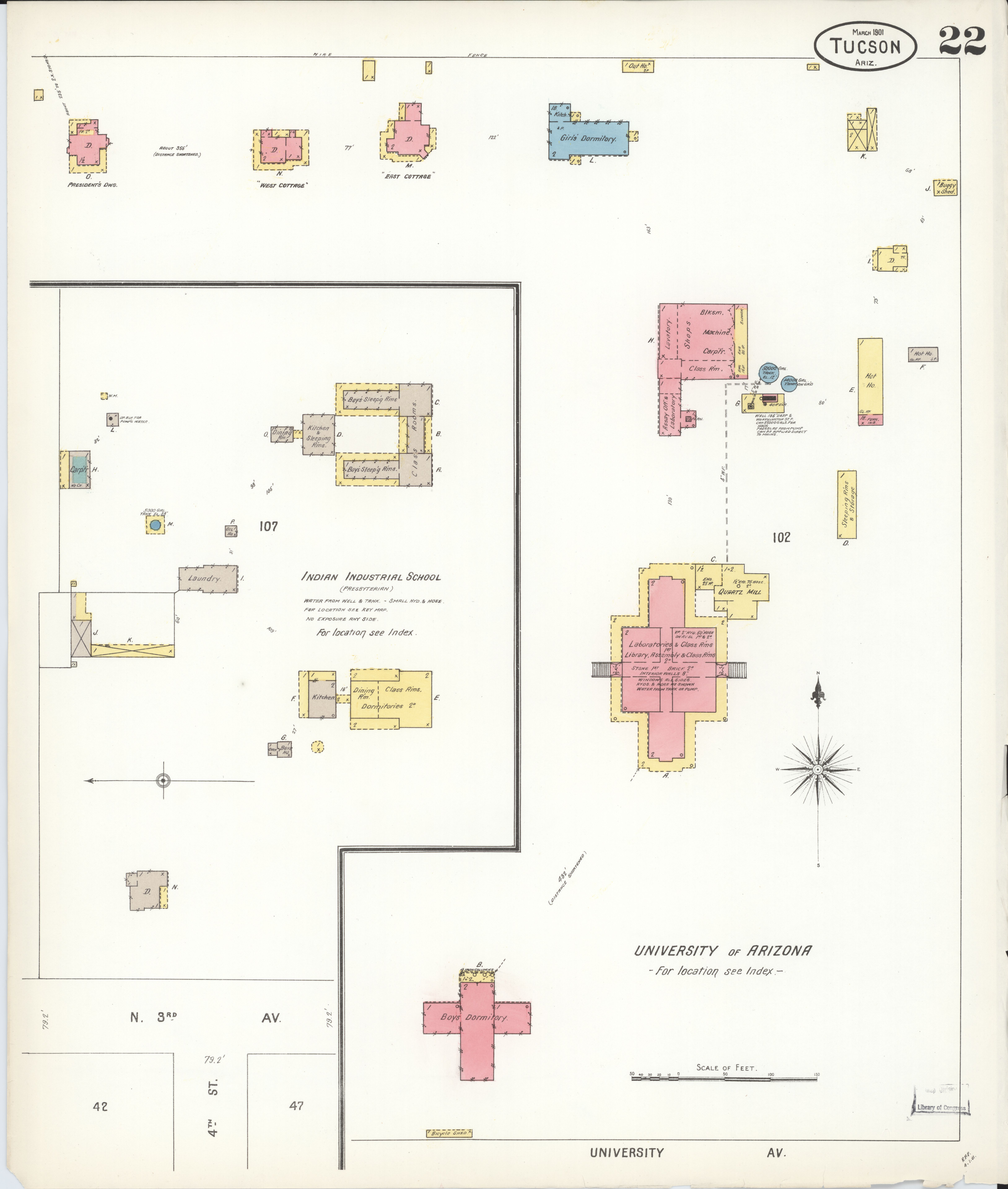 File Sanborn Fire Insurance Map From Tucson Pima County Arizona