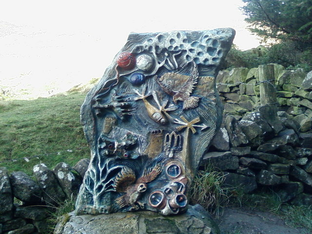 File:Sculpture along the Touchstone Trail - geograph.org.uk - 447980.jpg