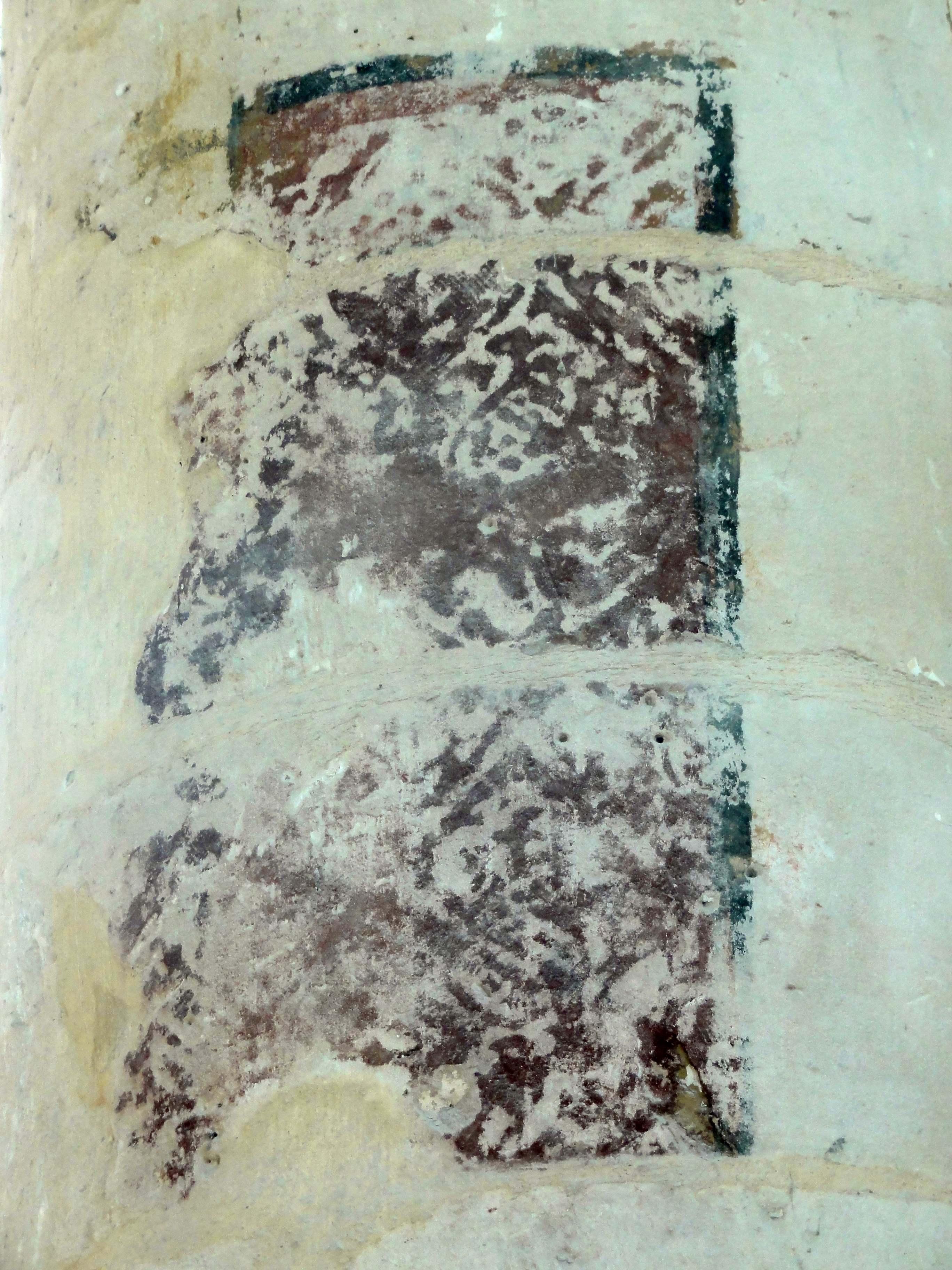File:Senlis (60), église St-Pierre, collatéral sud, 2e travée, peinture murale dans l'angle nord ...