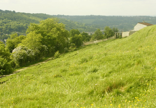 South eastern slope of Little Solsbury Hill - geograph.org.uk - 809007