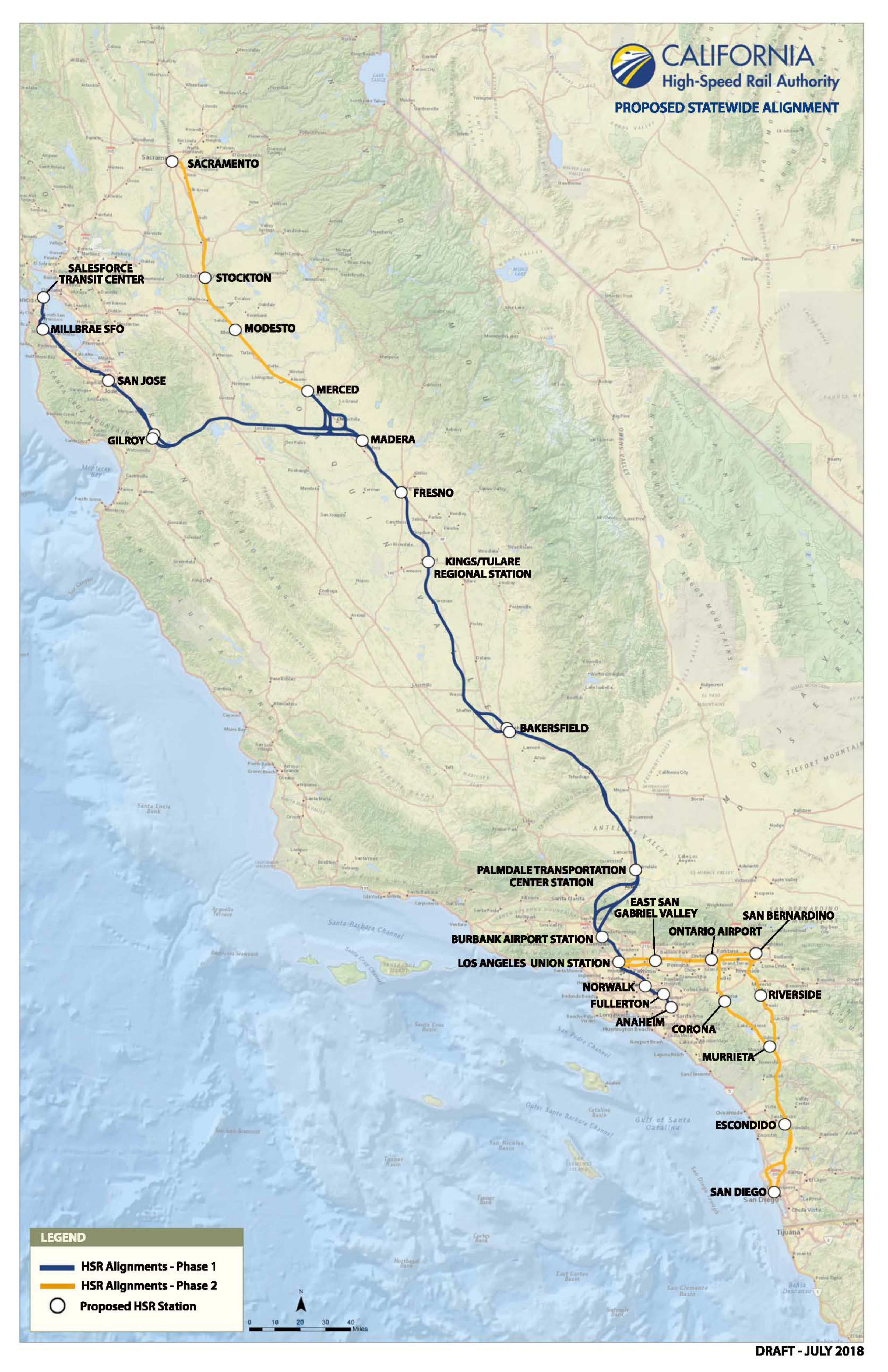 trains in california map Route Of California High Speed Rail Wikipedia