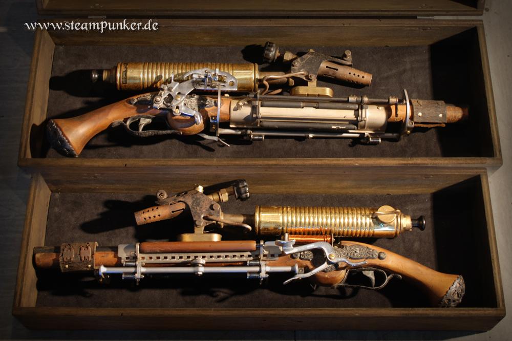 how to create a steampunk gun