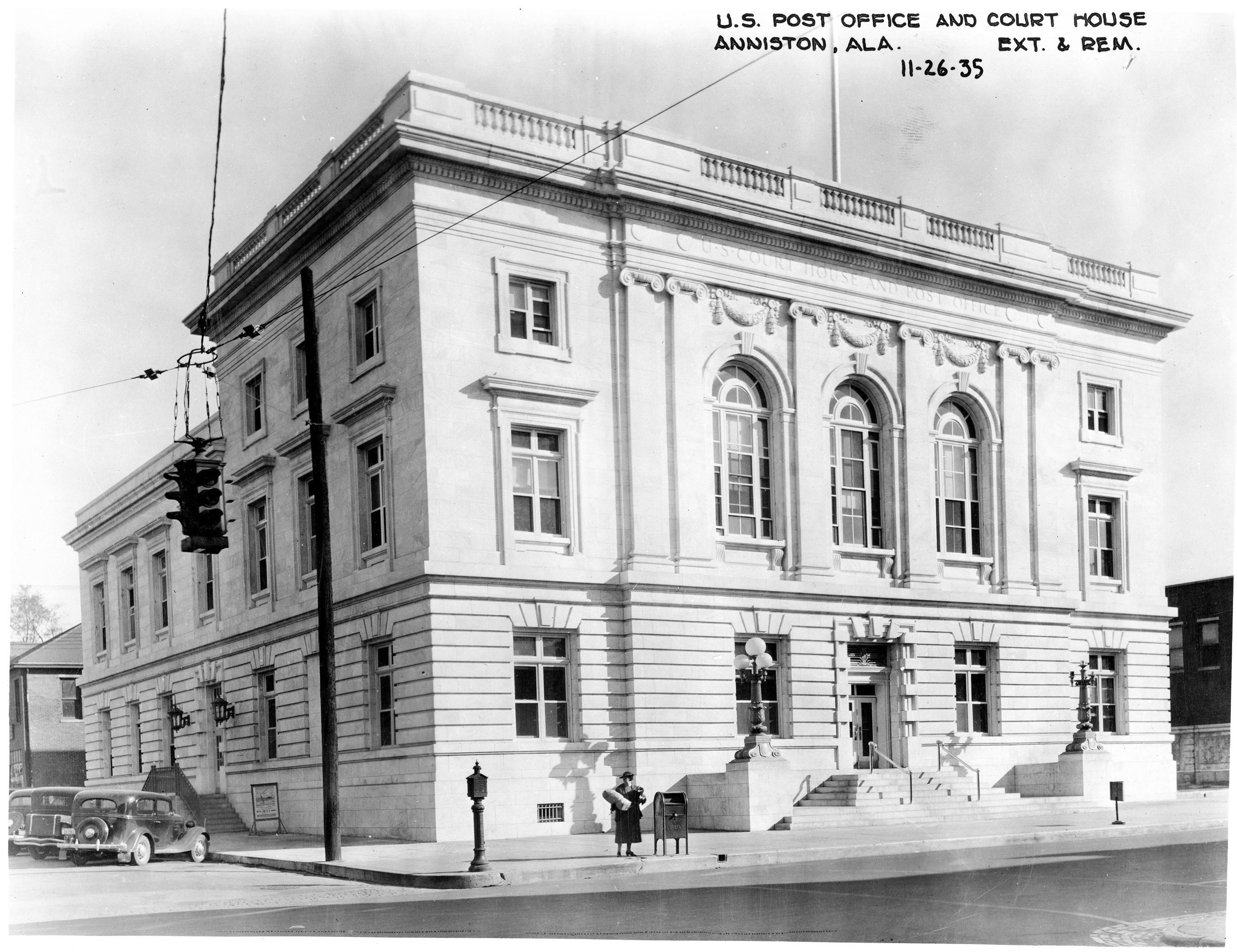 File u s court house and post office 2 anniston for Building a house in alabama