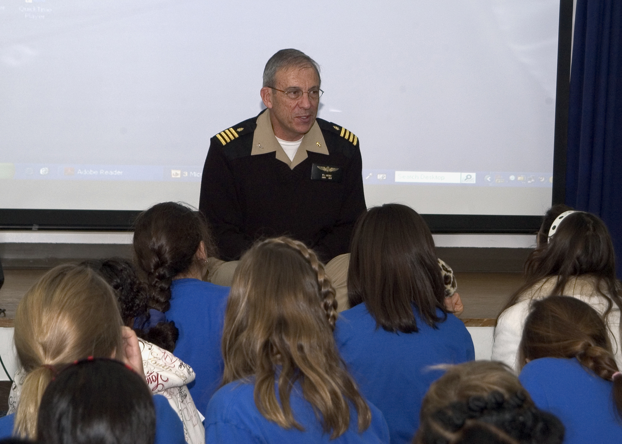 Fileus Navy 080114 N 0483b 002 Capt Michael J Krentz Commanding