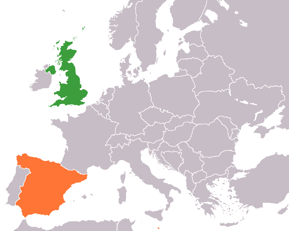 Map of spain and united kingdom wonderfulcreation updated gumiabroncs Gallery