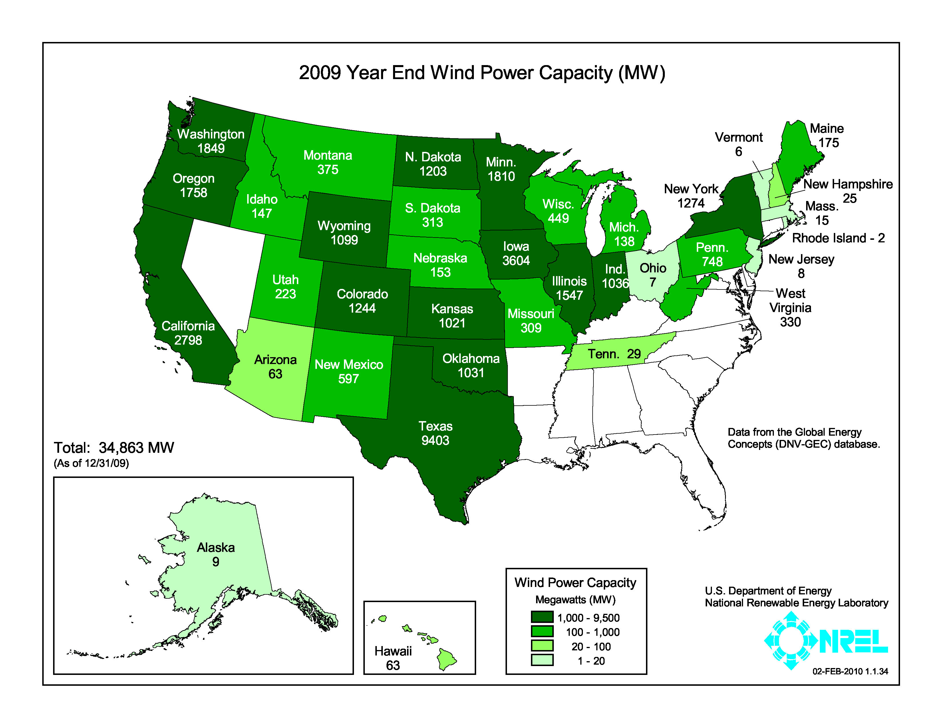 FileUnited States Installed Wind Power Capacity By State Jpg - Current us wind map