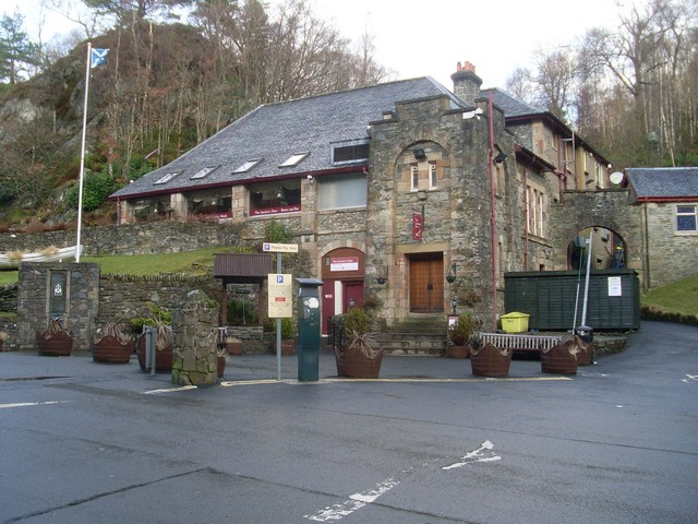 Visitor centre at the Loch Katrine pier - geograph.org.uk - 1720108
