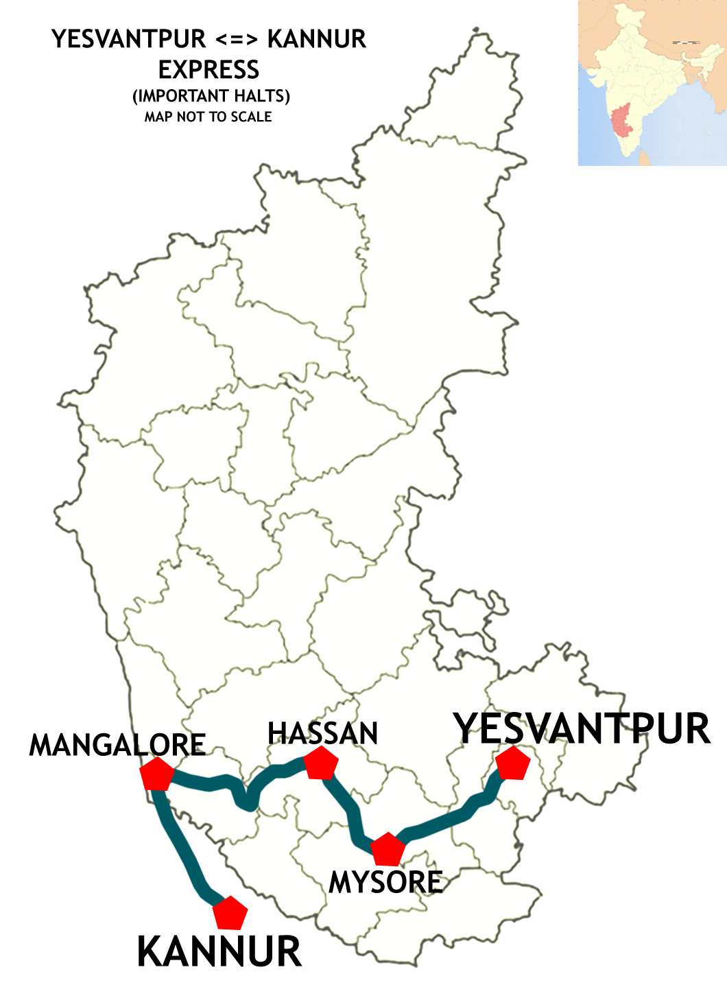 FileYesvantpur Kannur Express Route Mapjpg Wikimedia Commons - Kannur map