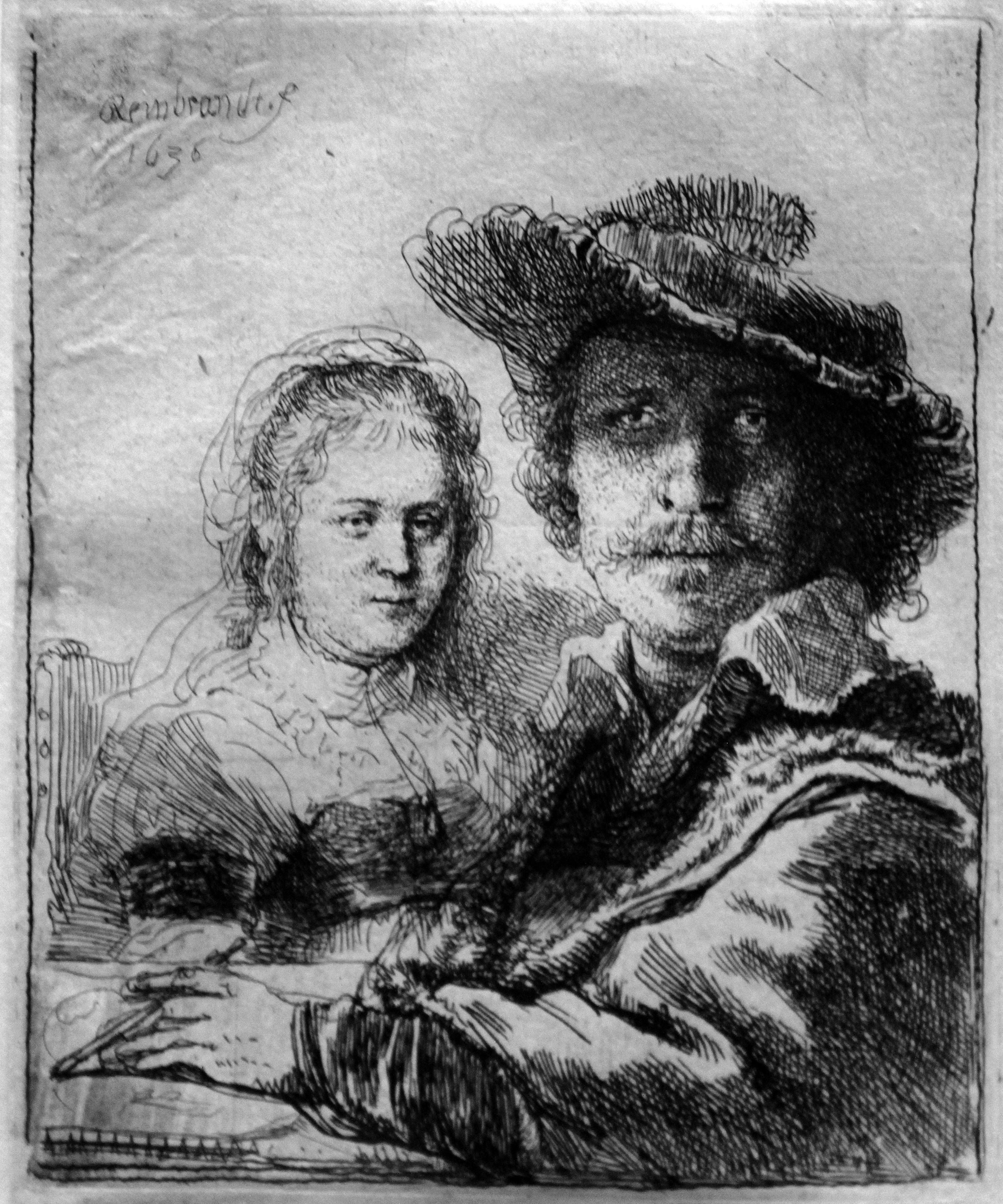 File:1636 Rembrandt Selbstbildnis zeichnend mit Saskia anagoria.JPG