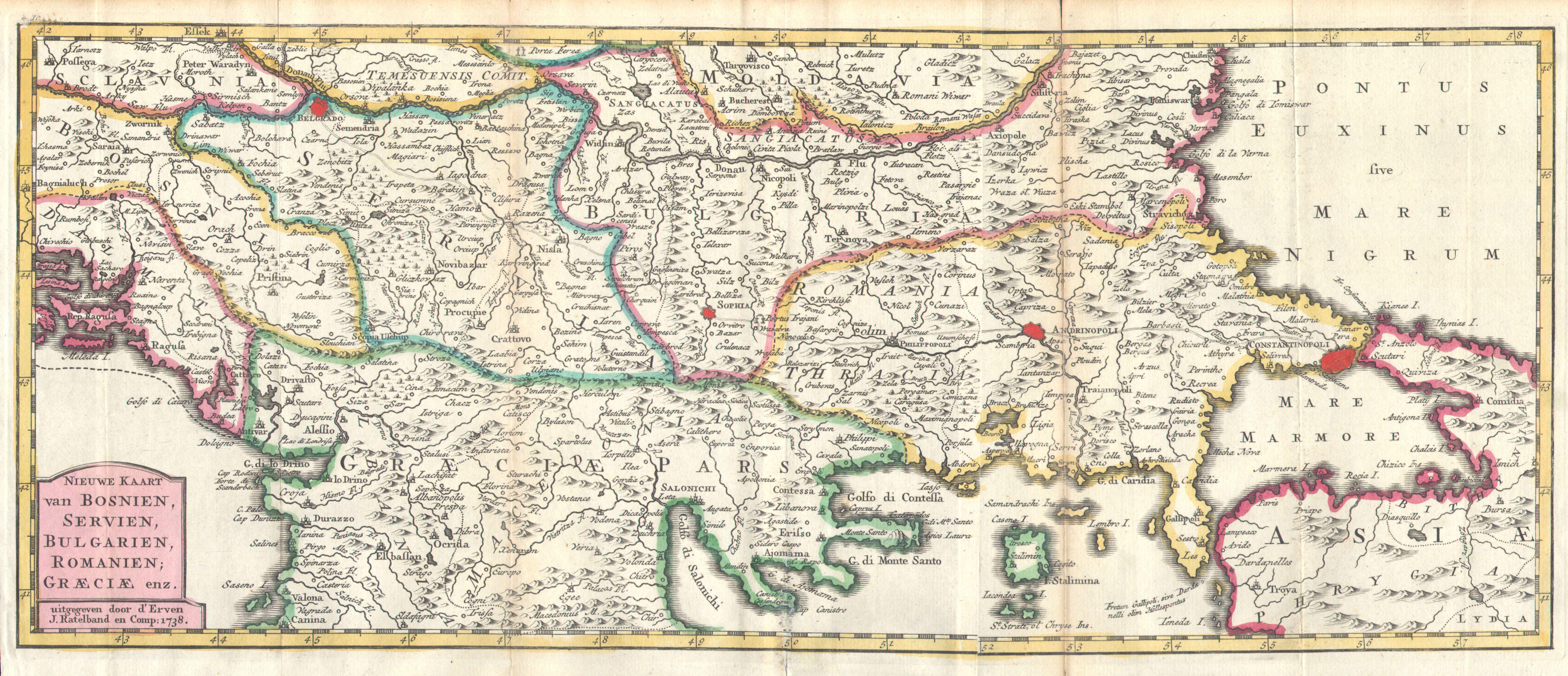 Serbia Old Map - Map of serbia
