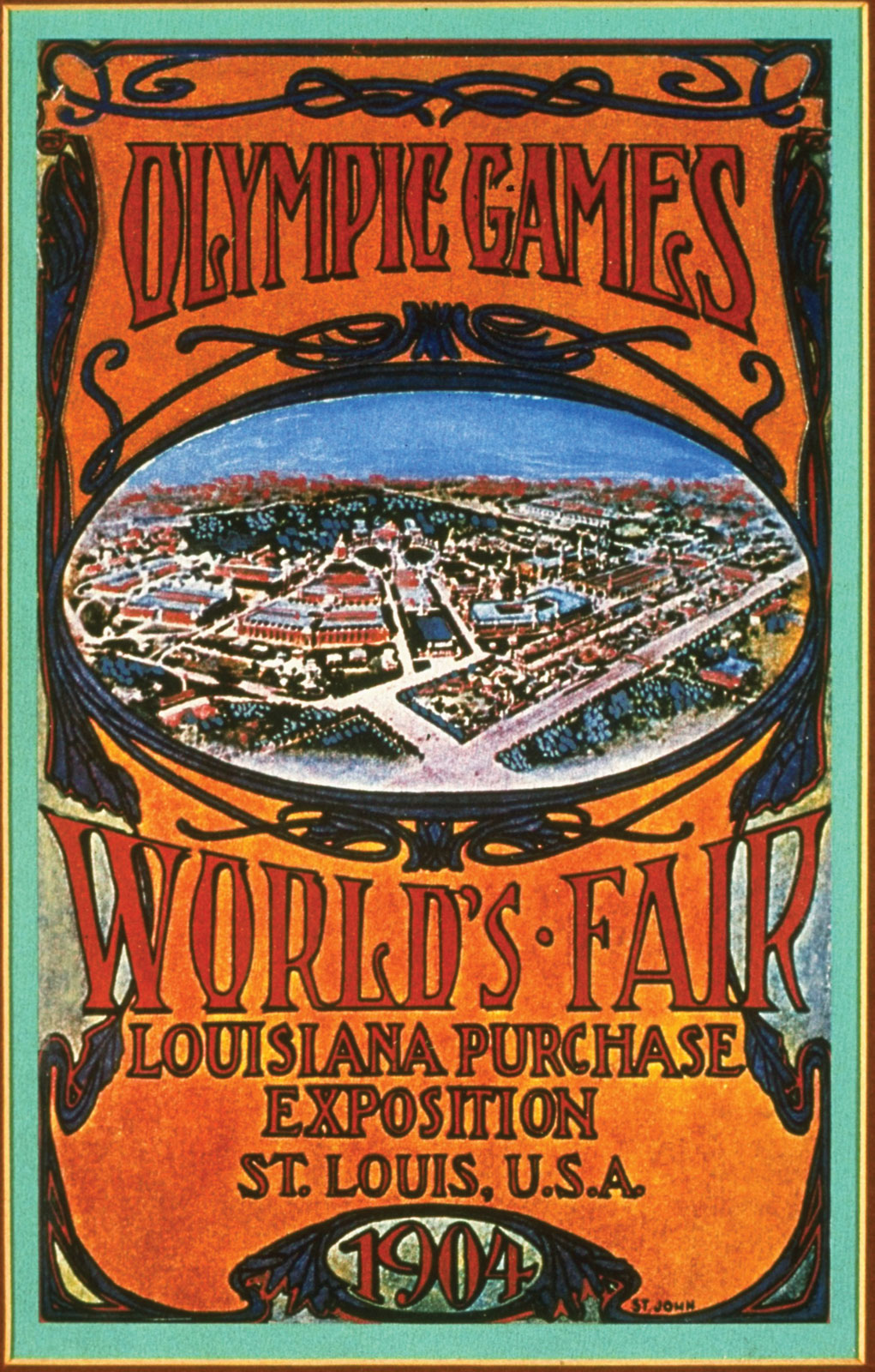 Poster for the St Louis Olympic Games