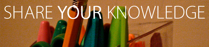 "2010 Contribution Campaign Banner Idea ""SHARE YOUR KNOWLDGE"".png"