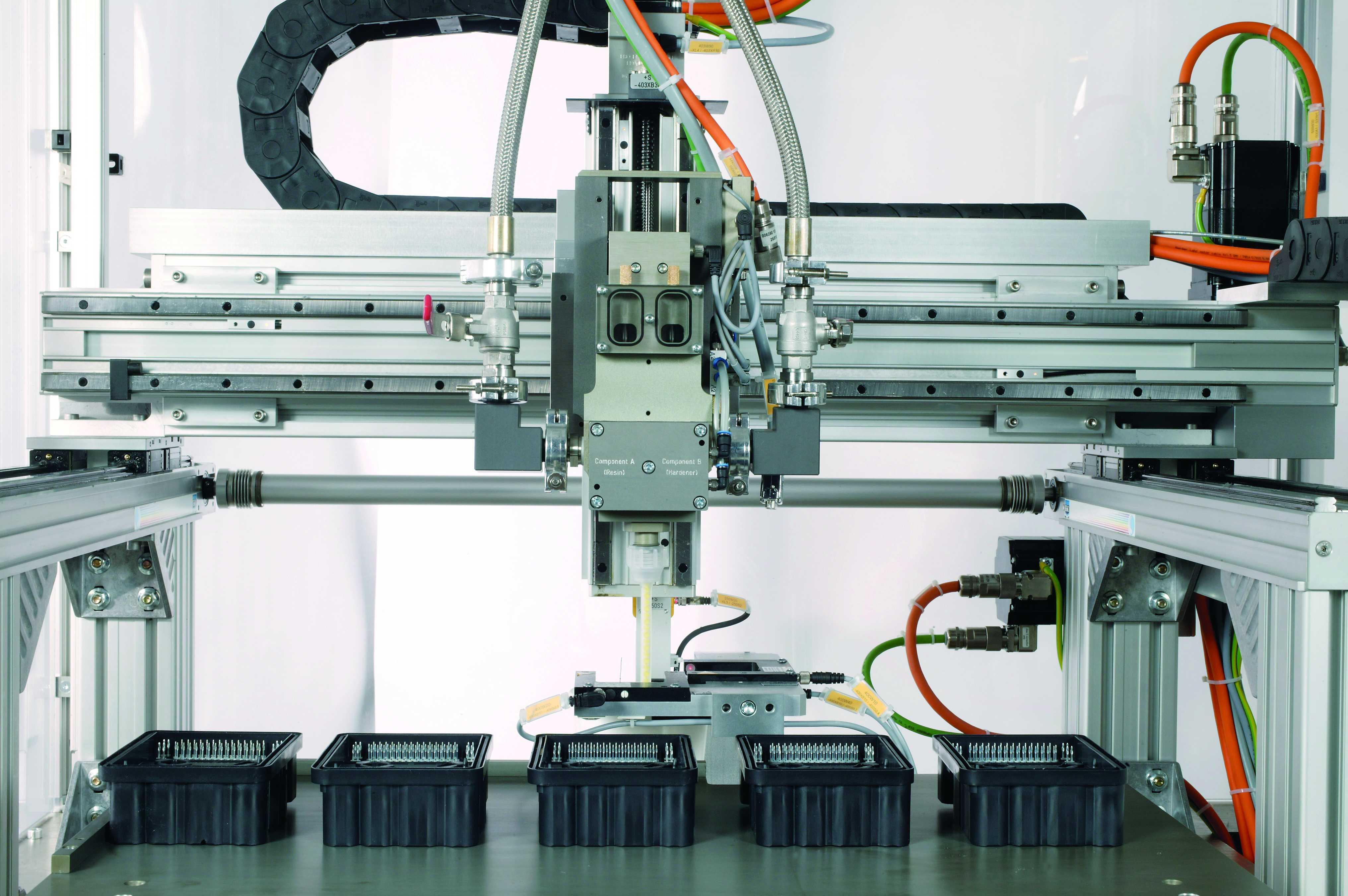 Portalroboter mit Linearführungen