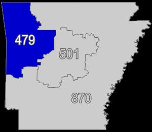 Area Code Wikipedia - Arkansas area code map