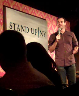 English: Ari Teman at Stand Up NY comedy Club