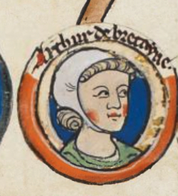 Breton noble, posthumous son of Geoffrey II, Duke of Brittany