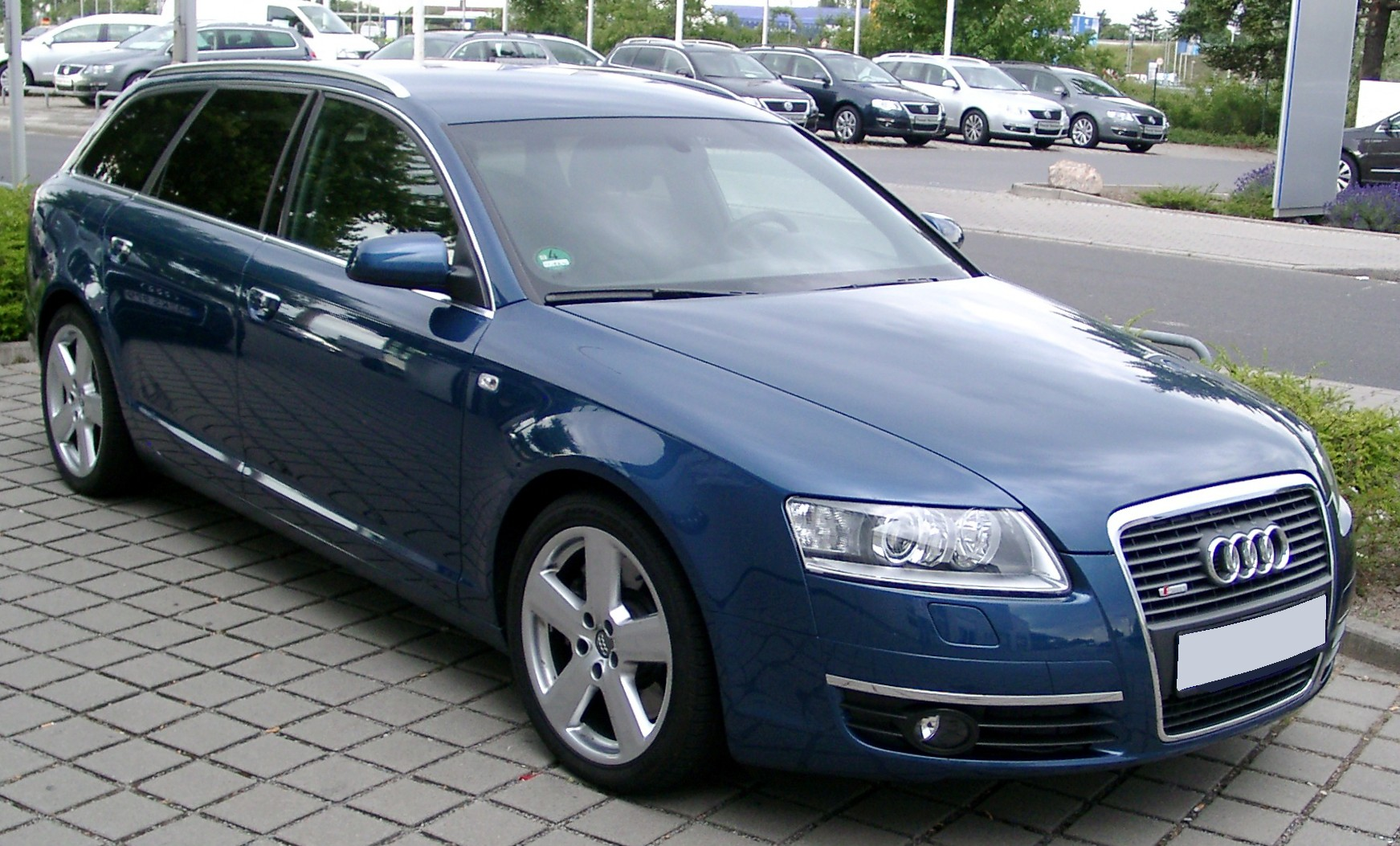 file audi a6 c6 avant front wikimedia commons. Black Bedroom Furniture Sets. Home Design Ideas