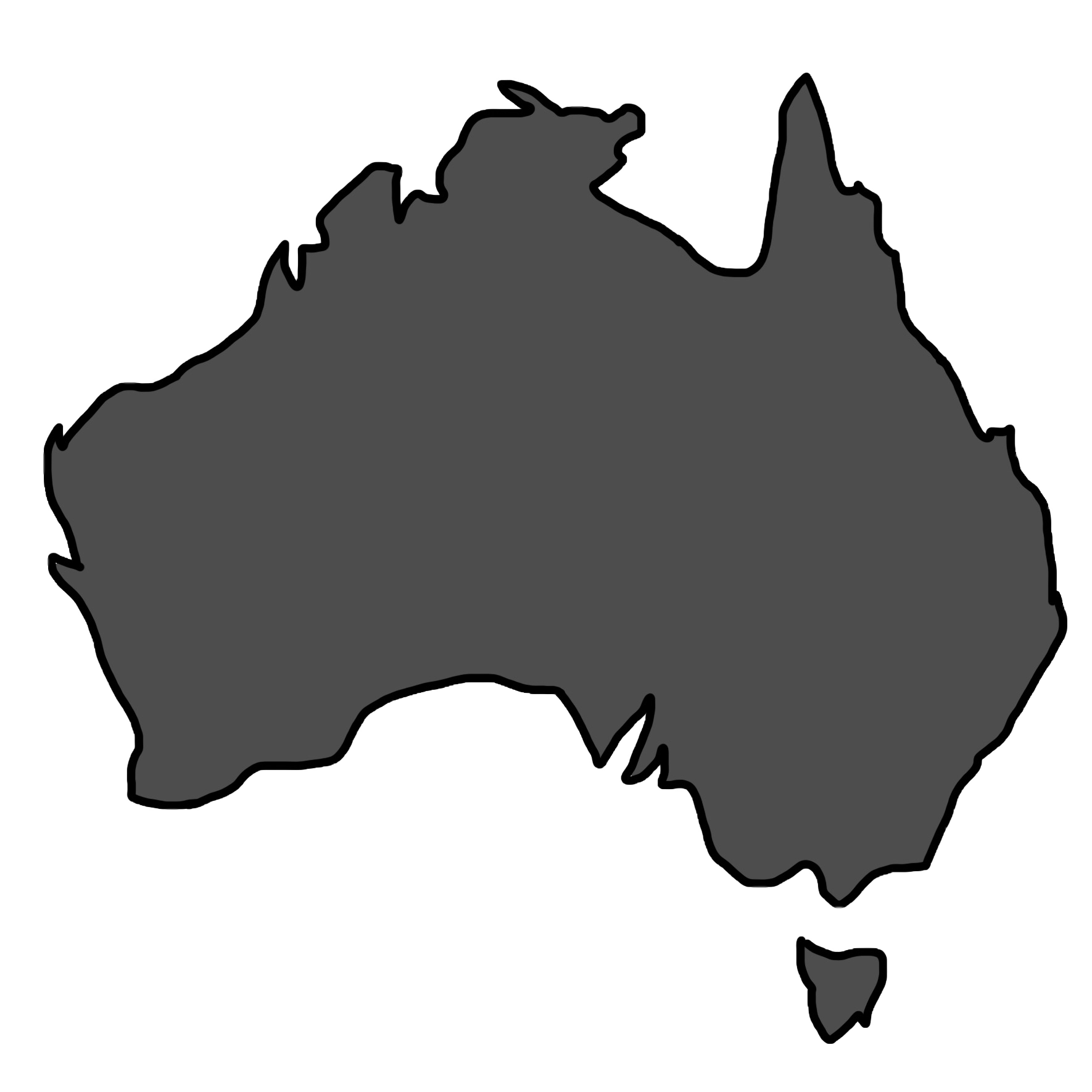 Australia Map Png.File Australia Map Blacked Png Wikimedia Commons