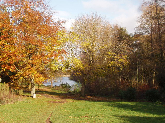 Autumn leaves by Osterley lake - geograph.org.uk - 621469