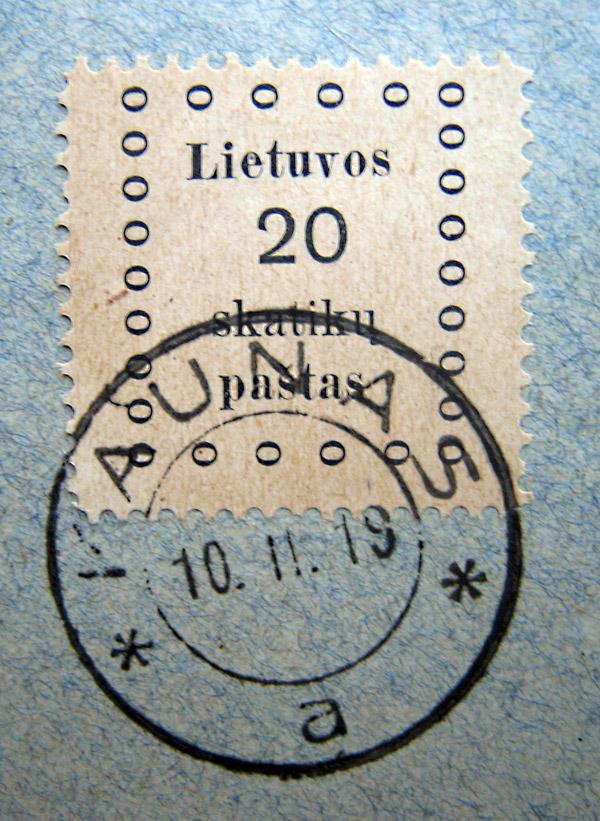 История почты и почтовых марок Литвы