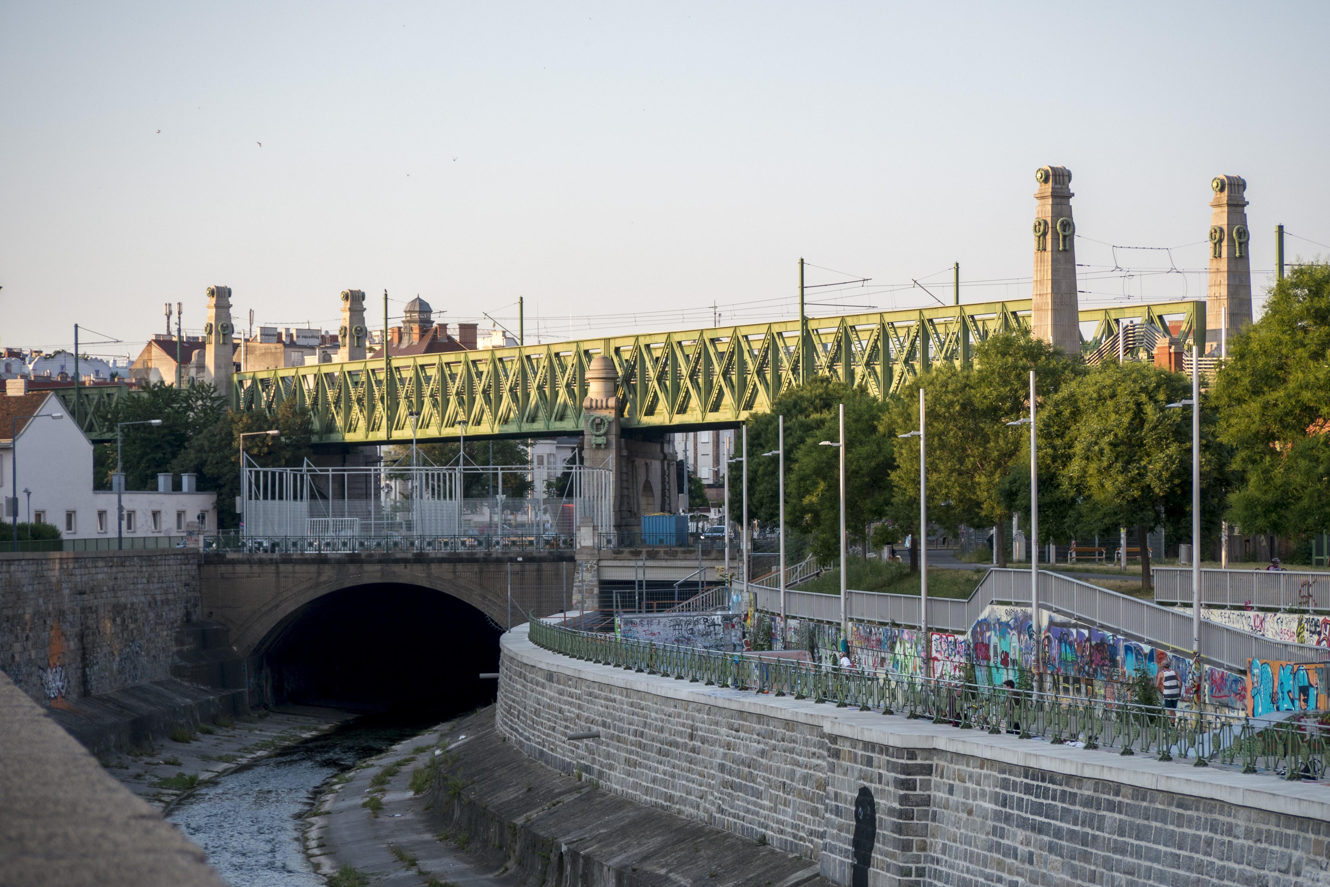 Brücke über die Zeile