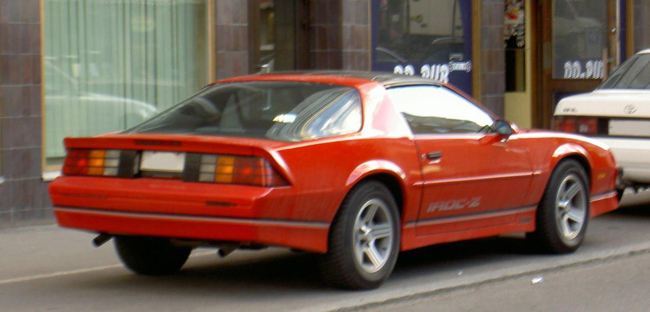 Iroc Z Wiki >> File:Chevrolet Camaro IROC-Z-1.jpg - Wikimedia Commons