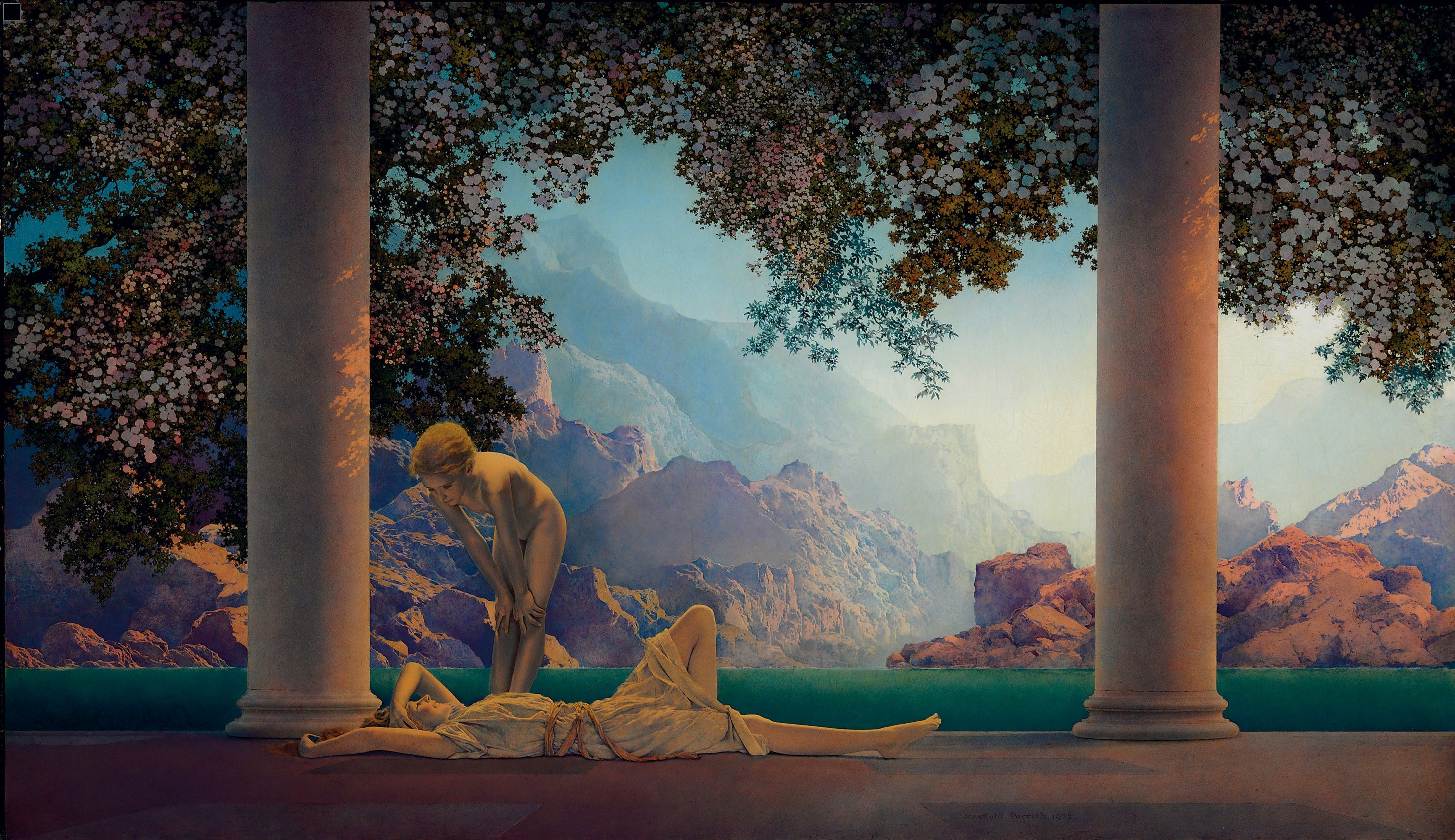 Art history news maxfield parrish at auction for Original oil paintings for sale by artist