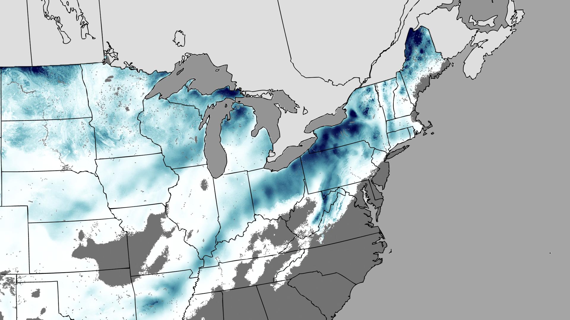 file december 25–28 2012 north american blizzard snow totals