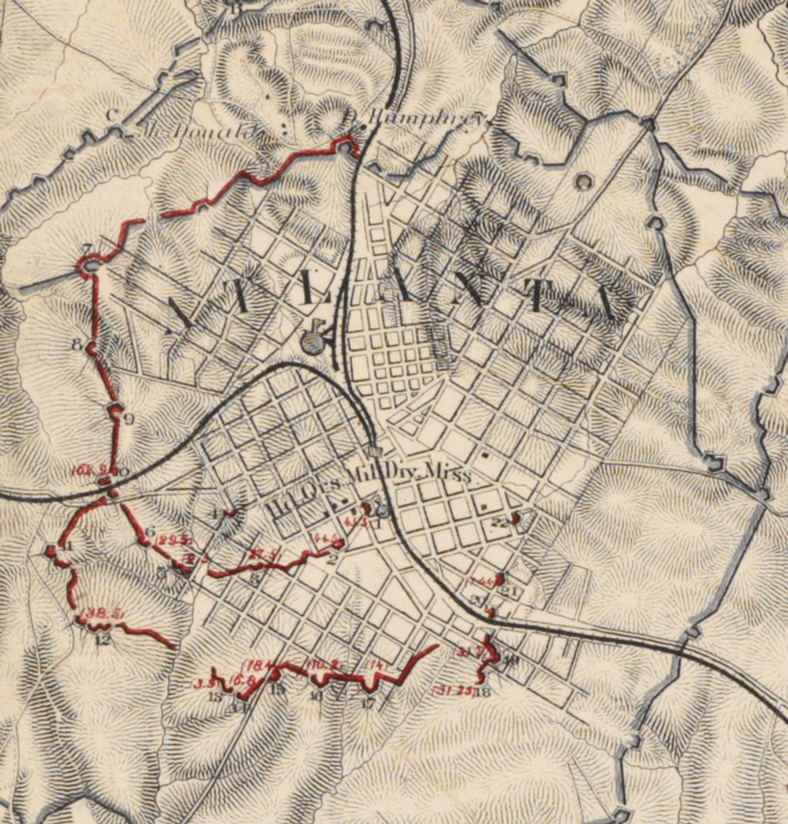 File Detail Map Of The Siege Of Atlanta 1864 Bl Maps