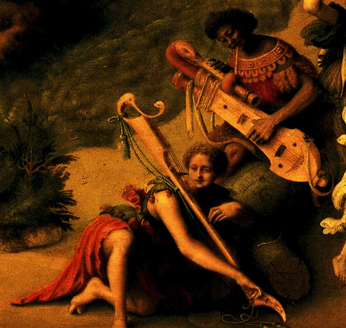 Detail of painting «Andromeda liberata da Perseo» (Piero di Cosimo).