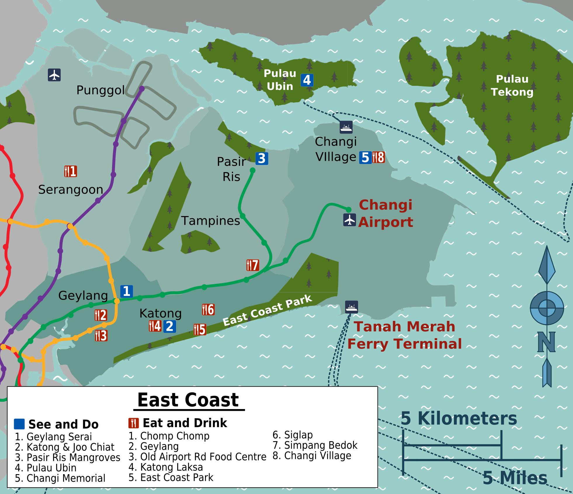 Datei:East Coast Map.png – Reiseführer auf Wikivoyage