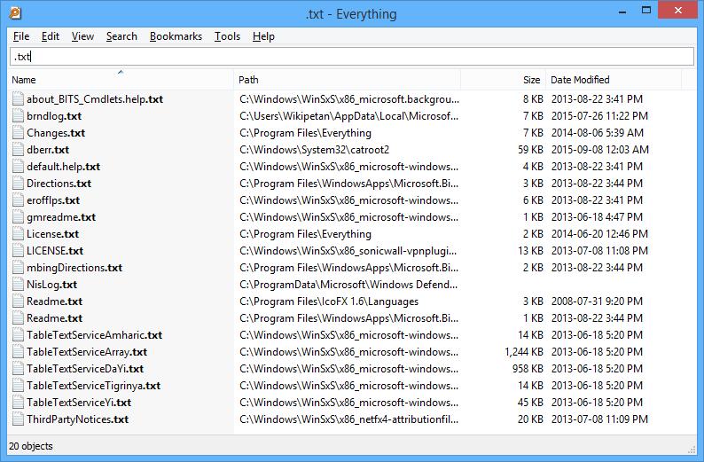 文件搜索-Everything
