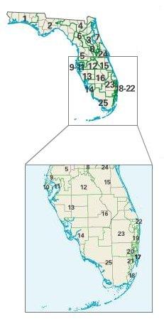Florida: Congressional Constituencies