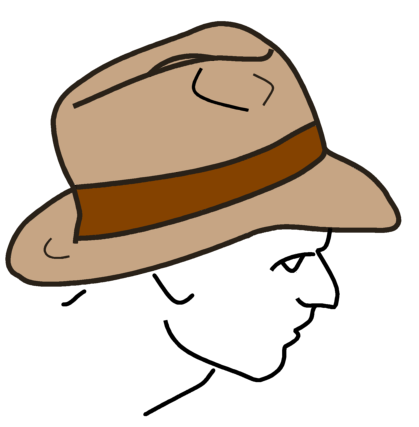 Feil:Fedora line drawing.png