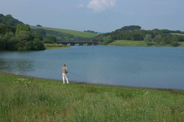 Fishing on Wimbleball Lake - geograph.org.uk - 461181