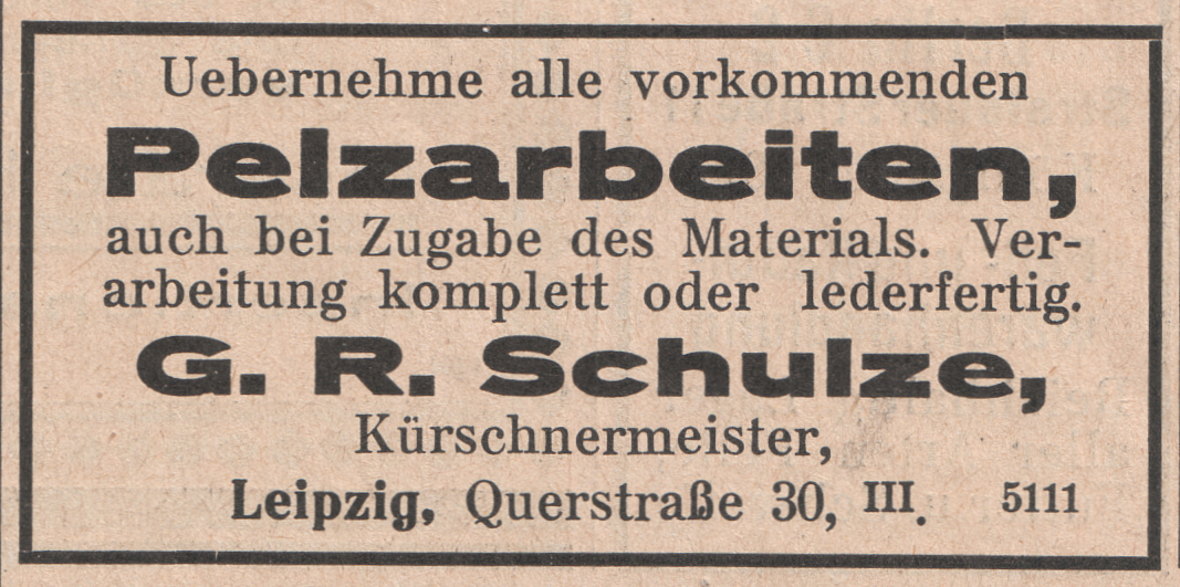 Schulze Sanit R Berlin file g r schulze kürschnermeister pelzarbeiten 1926 jpg wikimedia commons