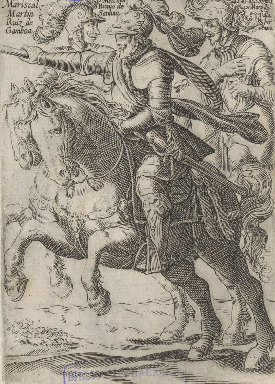 Depiction of Melchor Bravo de Saravia