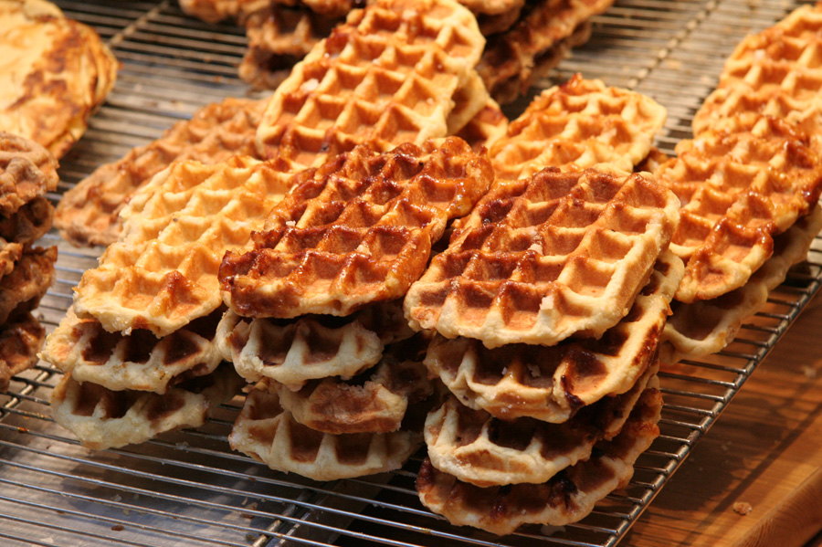 Liège Waffles, Belgiumu0027s most popular variety u2013 a legendary creation by an 18th-century chef to the prince-bishop of Liège u2013 were not a confirmed recipe ...