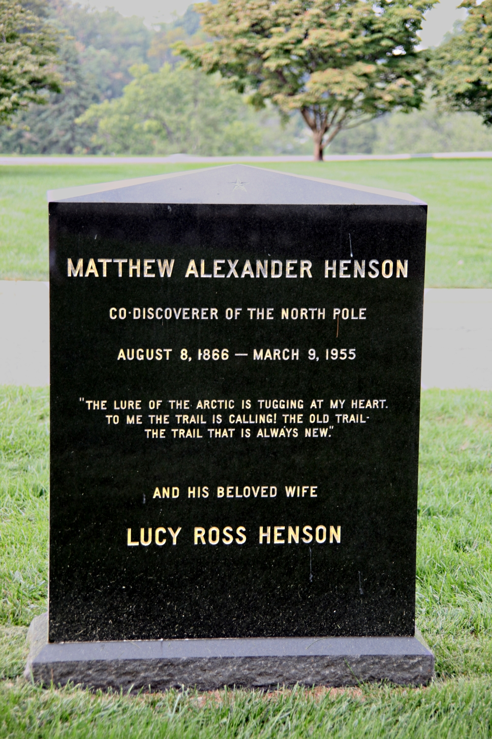 file grave of matthew henson   rear   arlington national cemetery