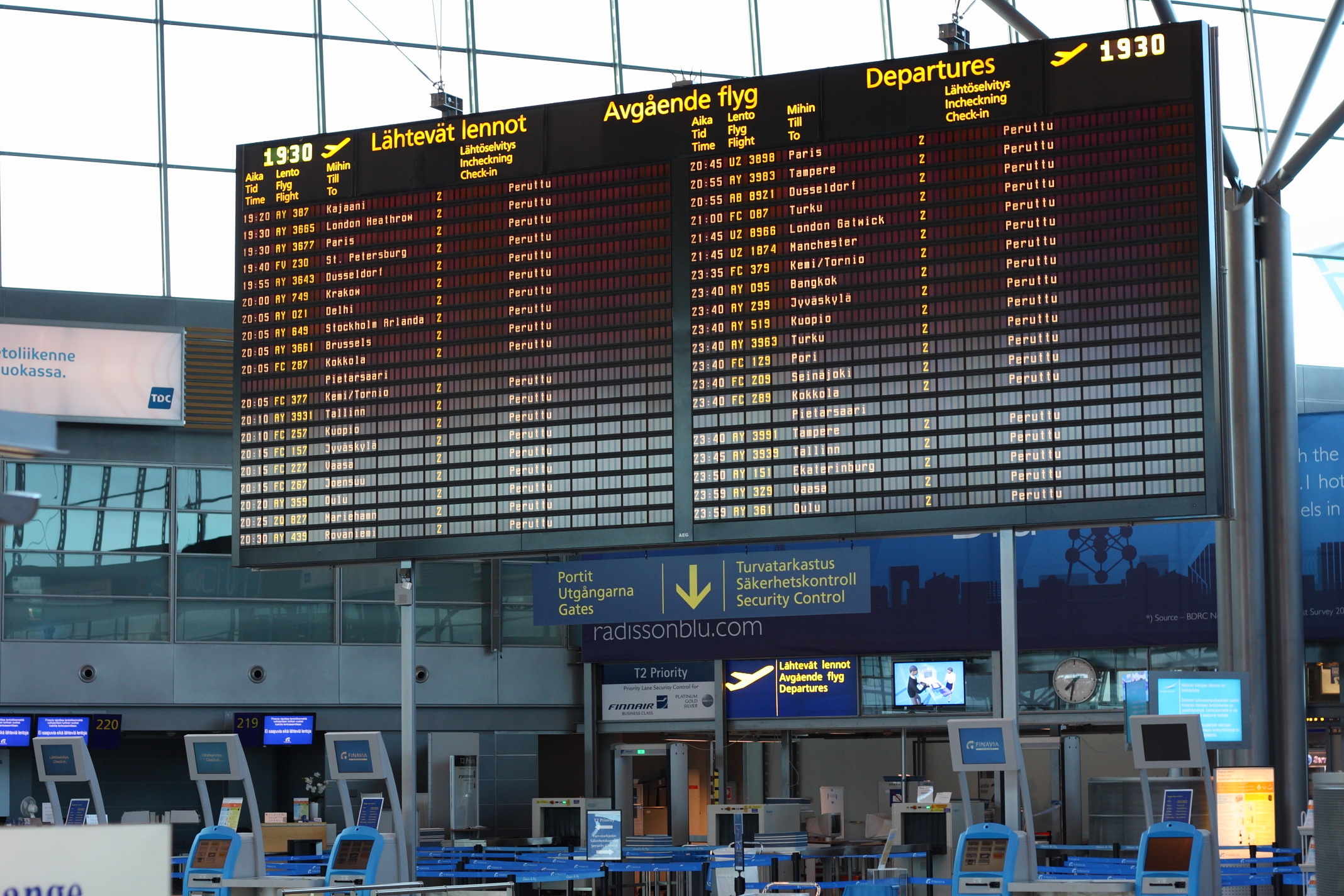 Related Keywords & Suggestions for helsinki airport departures