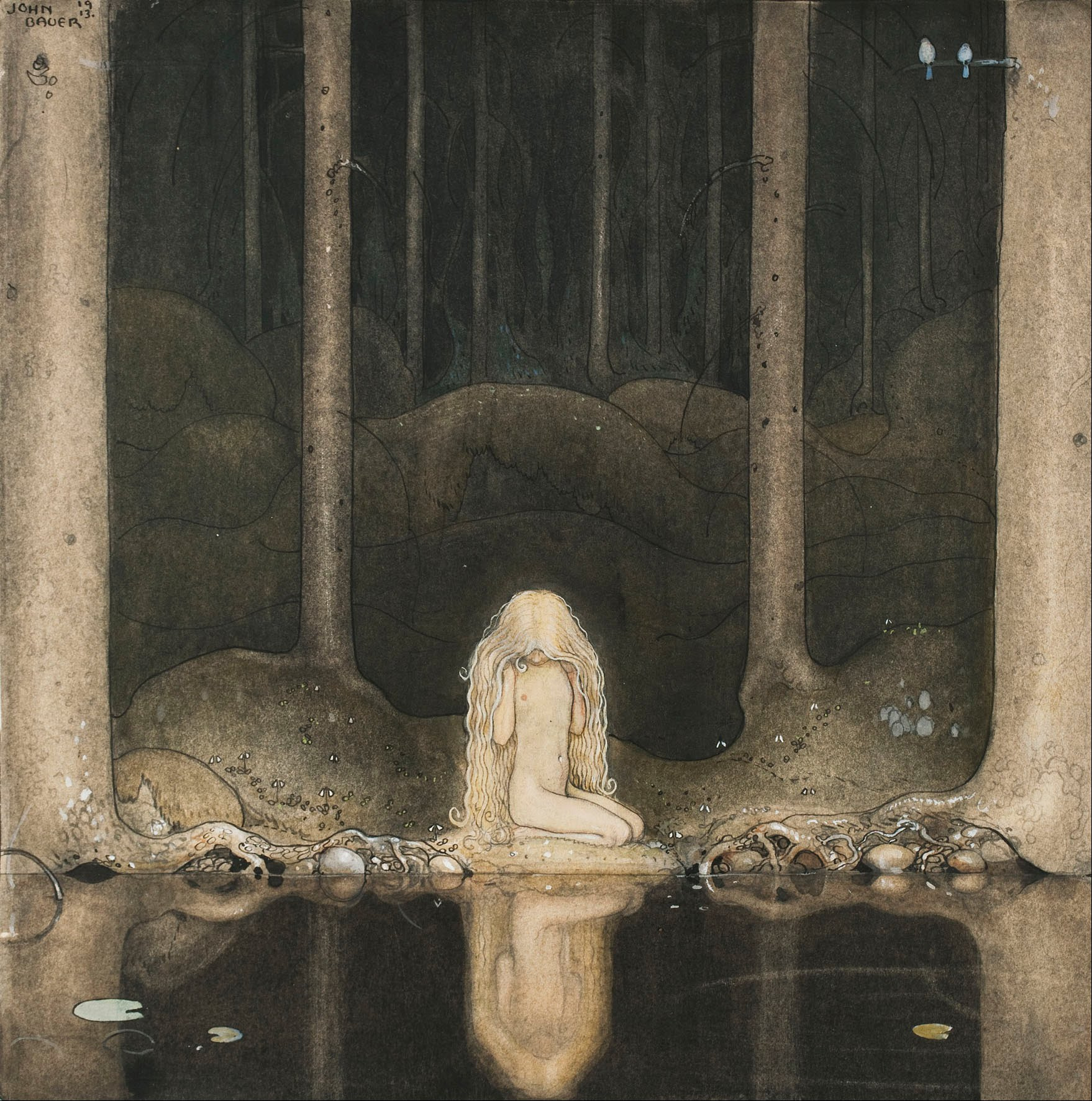John_Bauer_-_Princess_Tuvstarr_gazing_do
