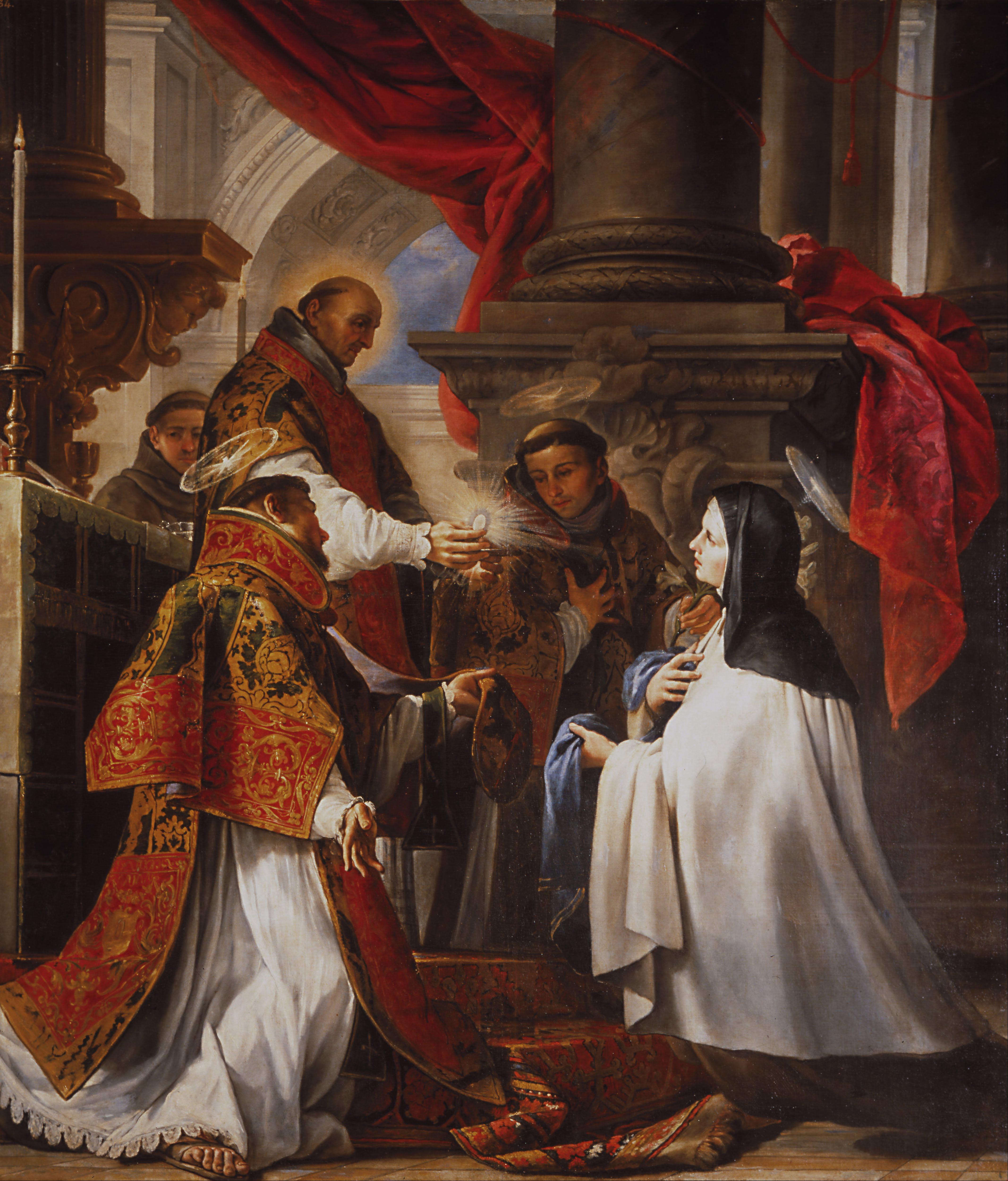 Agostino Carracci Ultima unione di S Francesco d Assisi 1596 circa Dulwich Picture Gallery Dulwich