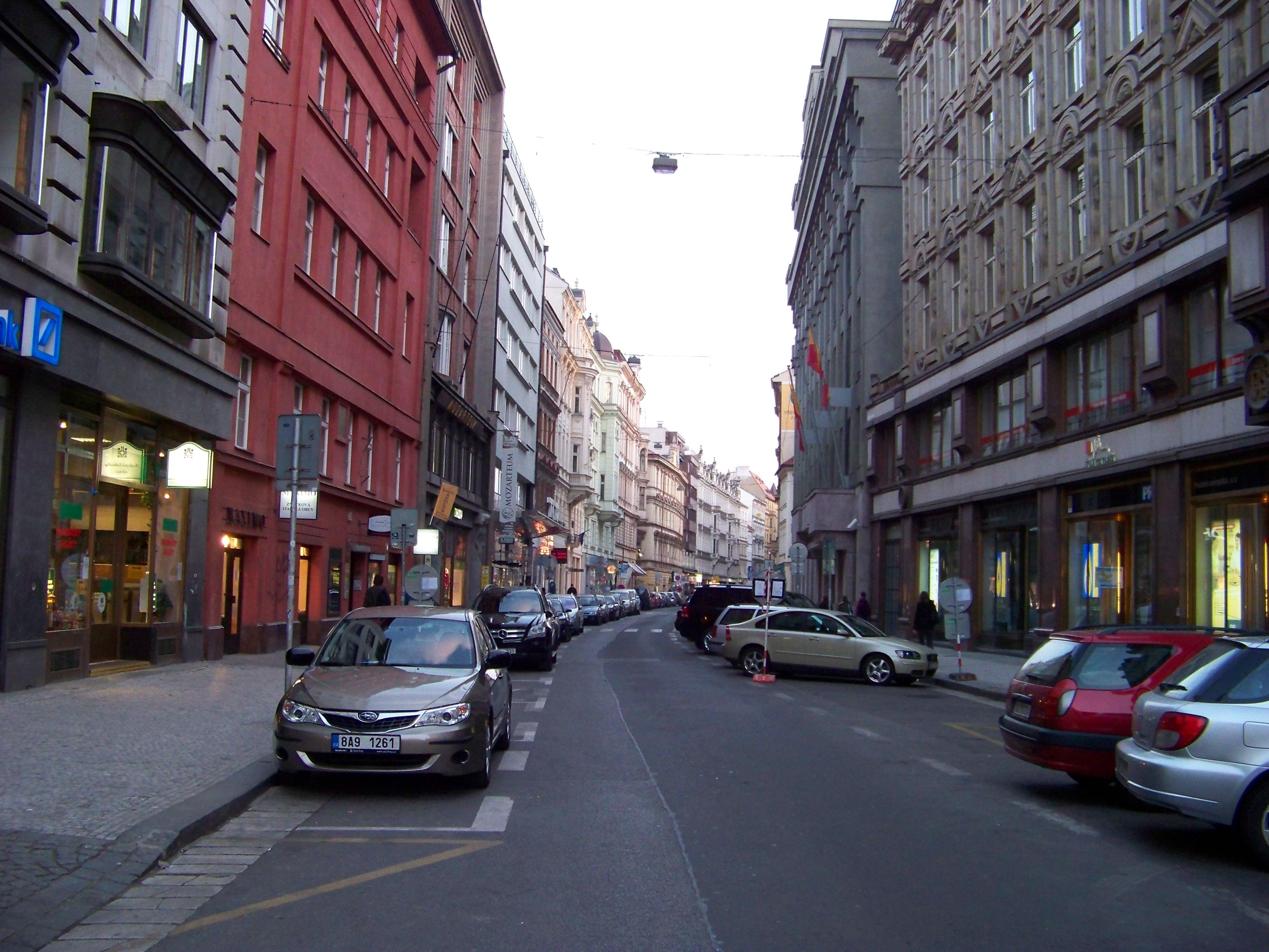 Description jungmannova ulice od jungmannova náměstí