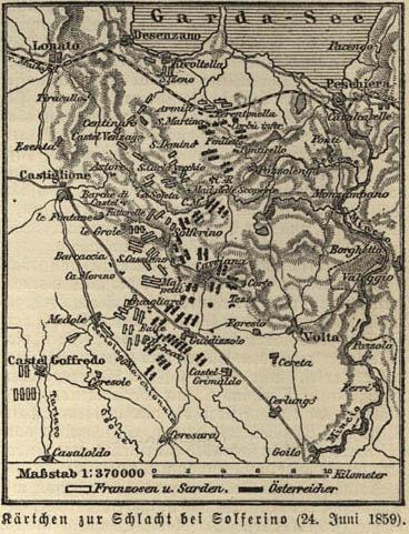 Mapy bitvy u Solferina