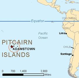 Položaj Pitcairnovoga Otočja
