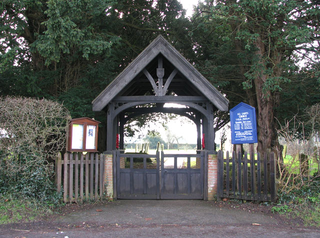 File:Lych gate at All Saints church - geograph.org.uk - 1692055.jpg